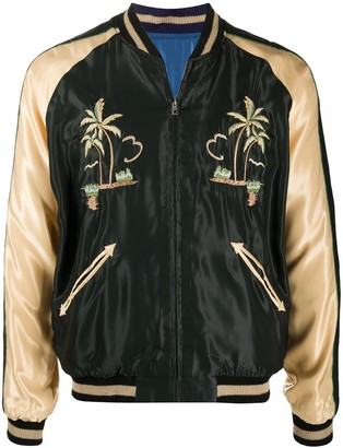 Tailor Toyo Reversible Tiger Embroidered Bomber Jacket