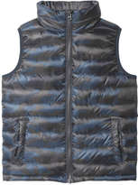 Joe Fresh Kid Boys' All Over Print Vest, Blue (Size L)
