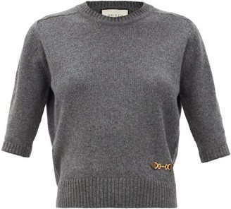 Gucci Horsebit-hardware Cashmere Sweater - Grey