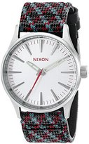 Nixon Men's A3772010 Sentry 38 Leather Watch