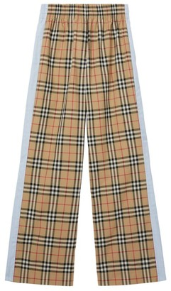 Burberry Vintage Check Wide-Leg Trousers