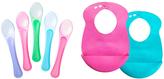 Tommee Tippee Pink & Blue Easi-Roll Bib & Feeding Spoon Set