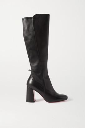 Christian Louboutin Kronobotte 85 Leather Knee Boots - Black