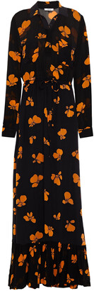Ganni Floral-print Georgette Maxi Dress