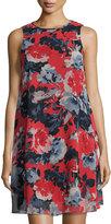 Taylor Floral-Print Trapeze Dress, Multi
