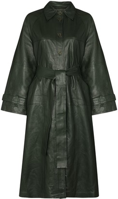 Remain Romy belted leather coat