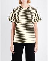 Eckhaus Latta Exposed-seam cotton-jersey T-shirt
