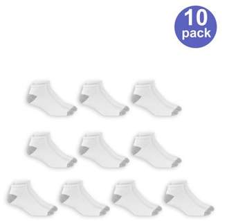 Athletic Works Men's Big and Tall Low Cut Socks 10 Pack