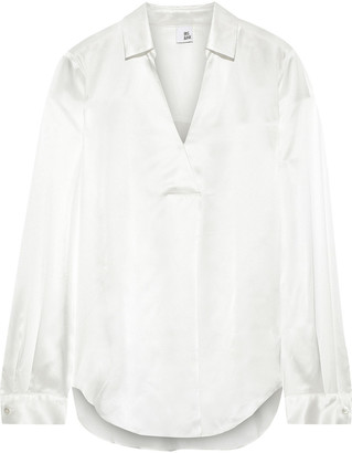 Iris & Ink Lova Silk-satin Shirt