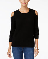 Charter Club Cashmere Cold-Shoulder Sweater, Only at Macy's