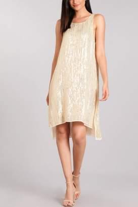Verty Ivory Sequin Dress