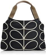 Orla Kiely Womens Linear Stem Print Classic Zip Top-Handle Bag Liqourice