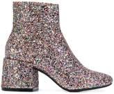 MM6 MAISON MARGIELA glitter booties