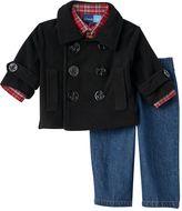 Great Guy Baby Boy Peacoat & Jeans Set