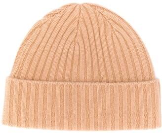 N.Peal chunky knit beanie hat