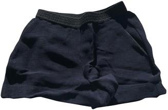 Maje Navy Cotton Shorts