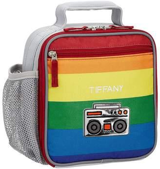 Pottery Barn Kids Fairfax Gray Bright Rainbow Stripe Backpacks