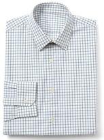 Gap Stretch Poplin windowpane slim fit shirt