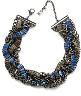 KENNETH COLE NEW YORK Blue Crystal and Metal Necklace
