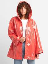 Gap Hooded High Gloss Rain Jacket