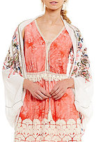 Chelsea & Violet Embroidered Kimono Cardigan
