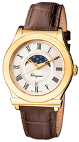 Salvatore Ferragamo 1898 Sunray Guilloche Watch, 40mm