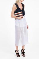 Vilshenko Hanna Organza Stripe Midi Skirt