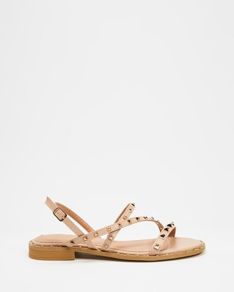 Betsy - Women's Neutrals Strappy sandals - Studded Strappy Sandals - Size 38 at The Iconic