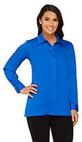 Joan Rivers Classics Collection Joan Rivers Silky Blouse with Hi-lowHem