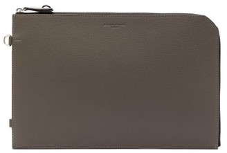 Nosakhari - Standout Mini Grained-leather Document Holder - Mens - Grey