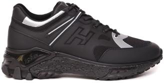 Hogan Black Urban Trek Technical Fabric & Leather Sneaker
