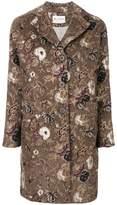 Etro floral print button up coat