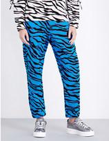 Kenzo Tiger-stripe jacquard jogging bottoms