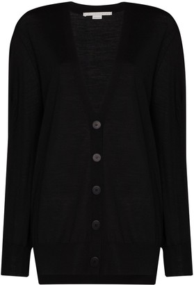 Stella McCartney Button-Down Fine-Knit Cardigan