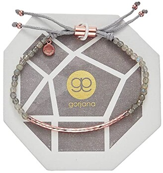 Gorjana Power Gemstone Bracelet (Rose Gold/Labradorite) Bracelet