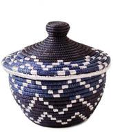 Mini Lidded Basket Blue