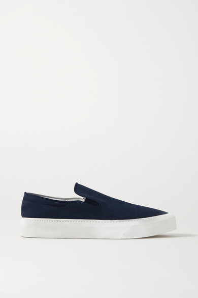 Thumbnail for your product : The Row Marie H Canvas Slip-on Sneakers - Navy