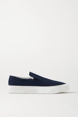 The Row Marie H Canvas Slip-on Sneakers - Navy