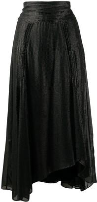 IRO Metallic Dot-Print Skirt