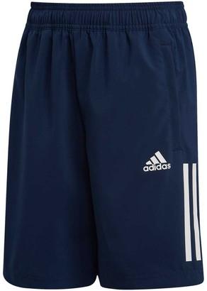 adidas Boys 3 Stripe Woven Training Shorts