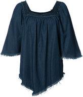 NSF fringed denim blouse - women - Cotton - S