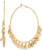 Kenneth Cole New York Gold-Tone Shaky Disc Hoop Earrings