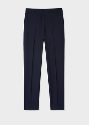 Paul Smith A Suit To Travel In - Women's Classic-Fit Dark Navy Wool Pants