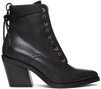 Rag & Bone Black Ryder Lace-Up Boots