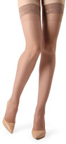 Me Moi Memoi MeMoi Women's Knee Highs Honey - Honey Sheer Lace Thigh-High Stockings - Women