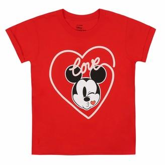 Disney Girl's Mickey Love Kiss T-Shirt