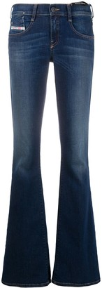 Diesel Low-Rise Flared Jeans