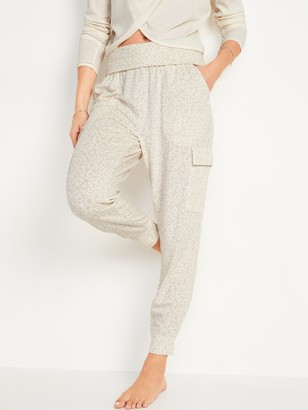Old Navy Mid-Rise French Terry Cargo Jogger Yoga Pants for Women
