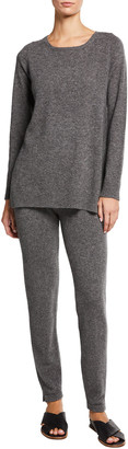 Neiman Marcus Cashmere Crewneck Tunic & Leggings Set
