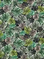 Oddies Textiles Cheese Plant Leaf Print Fabric, Green/Multi